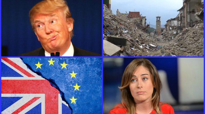 Trump Boschi Brexit Amatrice